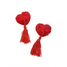 Пэстисы на соски - Красные Сердца с Розами, для самых ярких женщин!