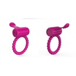 Эрекционное кольцо со стимулятором клитора фиолетовое