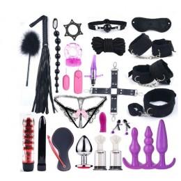 БДСМ-набор тканевый черного цвета