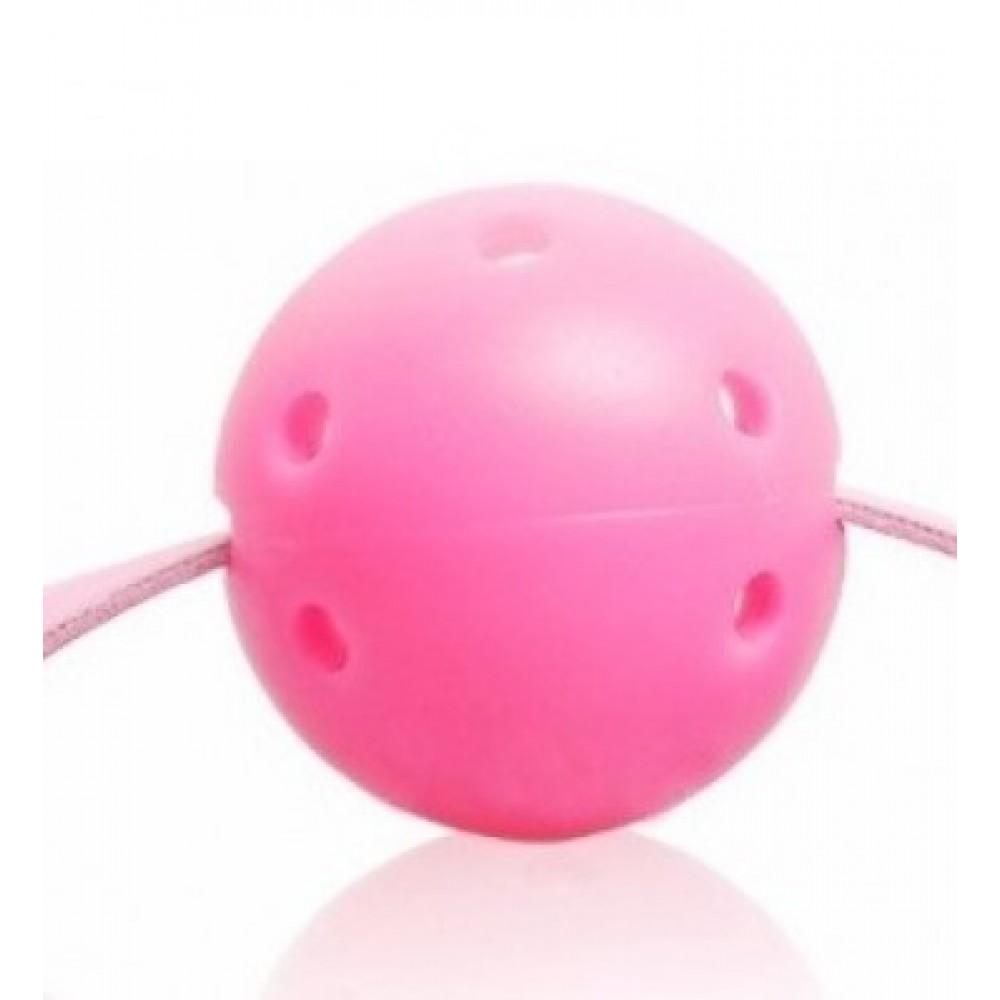 Кляп розового цвета для страстных игр фото 4