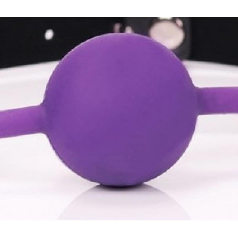 Кляп силиконовый фиолетового цвета фото 2
