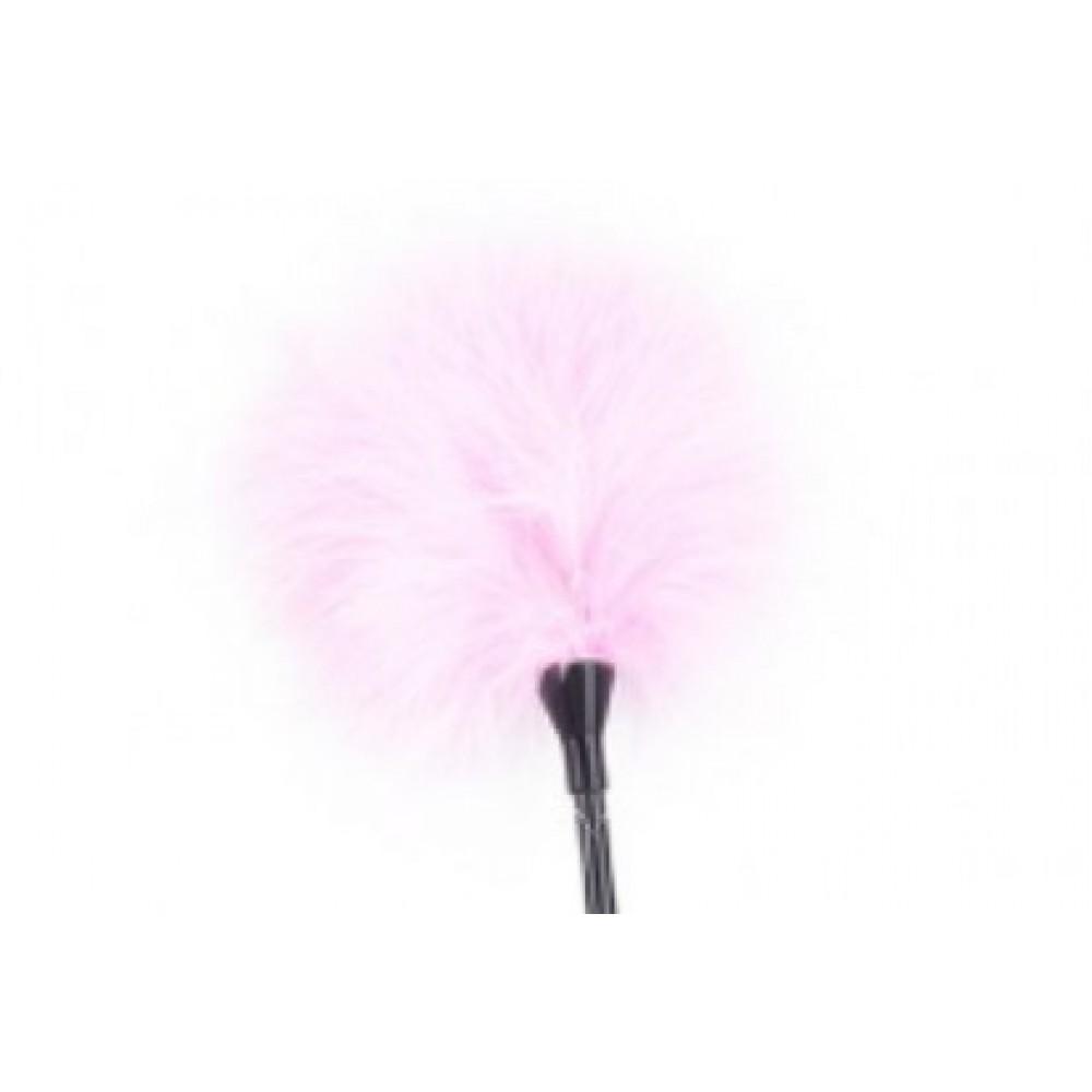 Кнут-перо сердечко розовое фото 3