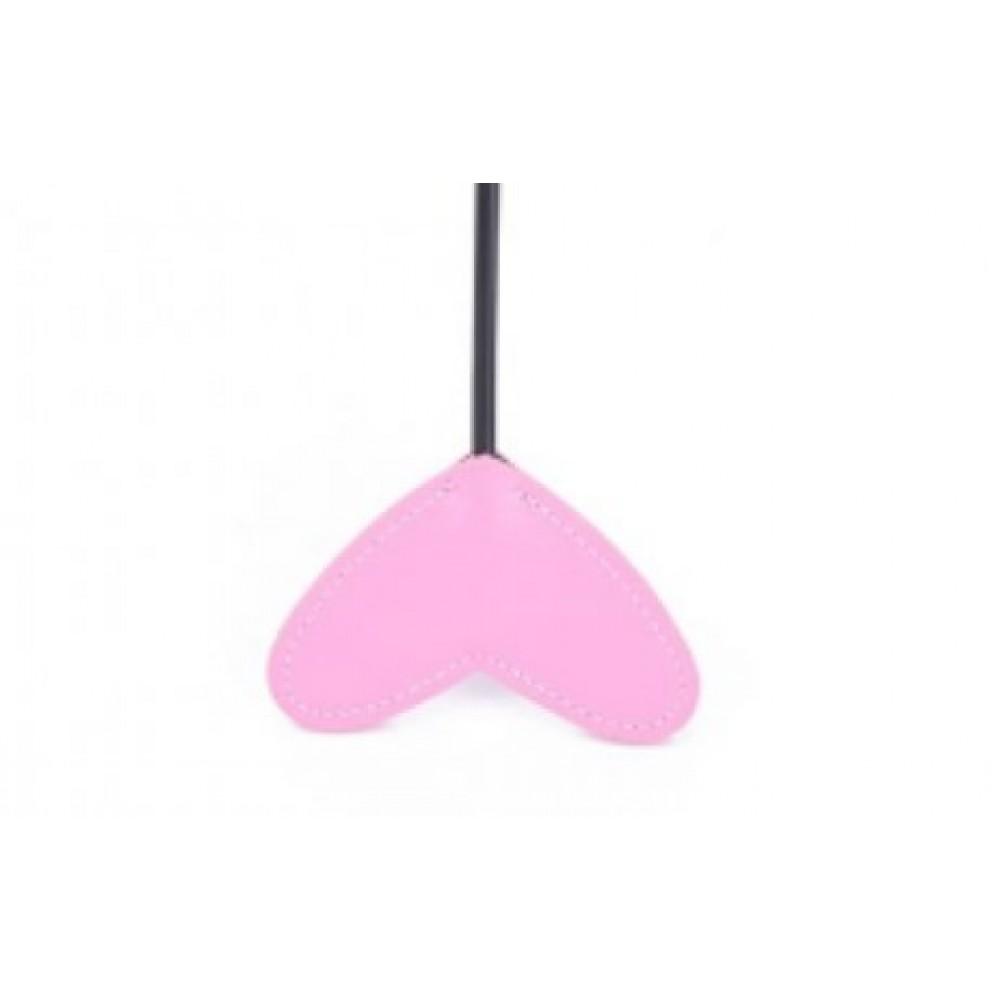Кнут-перо сердечко розовое фото 4