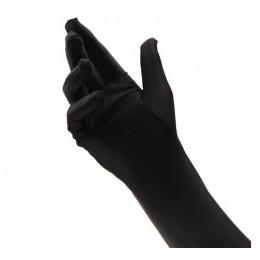 Черные длинные перчатки