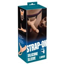 Мужской страпон - Strap-On Silicone Sleeve Large