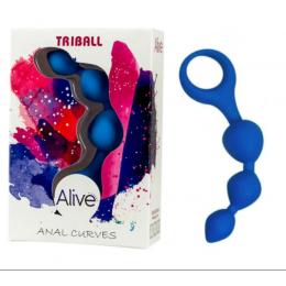 Анальные шарики Alive Triball Blue