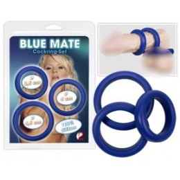 Эрекционные кольца Blue Mate Cockring Set 3шт