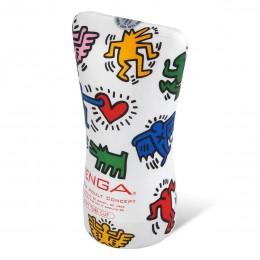 Мастурбатор Tenga Keith Haring Soft Tube Cup 12.7х4.5 см (белый)