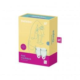 Набор менструальных чаш Satisfyer Feel Confident (light green), 15 мл и 20 мл,
