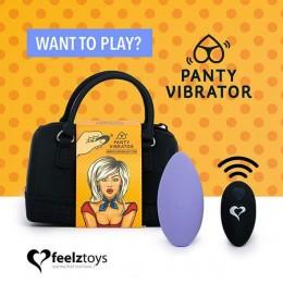 Вибратор в трусики FeelzToys Panty Vibrator Purple с пультом ДУ, 6 режимов работы, сумочка-чехол