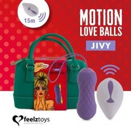 Вагинальные шарики с массажем и вибрацией FeelzToys Motion Love Balls Jivy с пультом ДУ