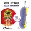 Вагинальные шарики с массажем и вибрацией FeelzToys Motion Love Balls Jivy с пультом ДУ фото 3
