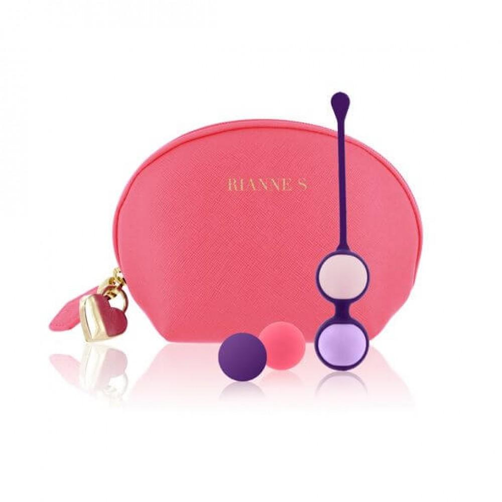 Набор вагинальных шариков Rianne S: Pussy Playballs Coral, вес 15г, 25г, 35г, 55г, монолитные