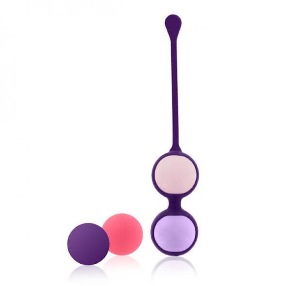 Набор вагинальных шариков Rianne S: Pussy Playballs Coral, вес 15г, 25г, 35г, 55г, монолитные фото 3