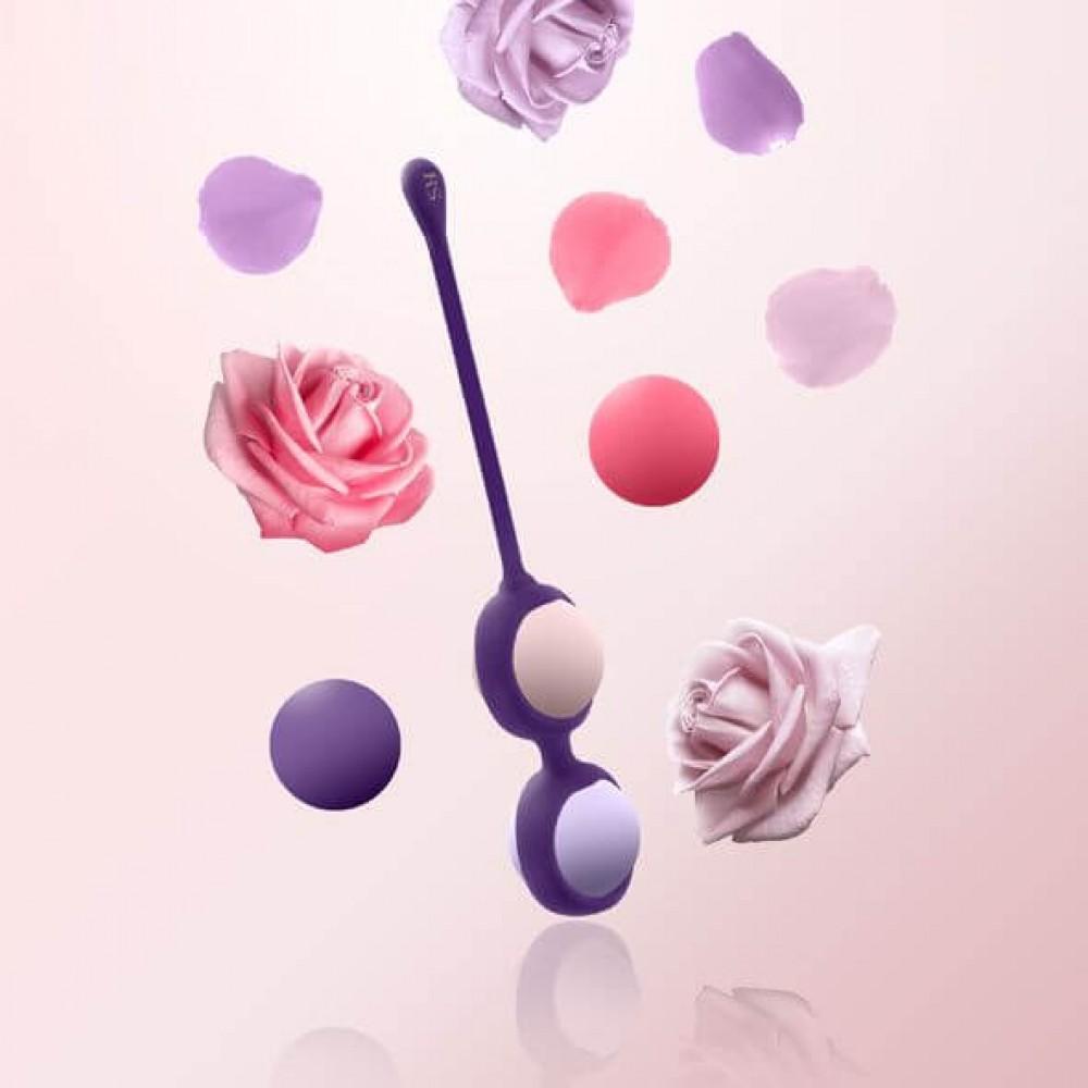 Набор вагинальных шариков Rianne S: Pussy Playballs Coral, вес 15г, 25г, 35г, 55г, монолитные фото 2