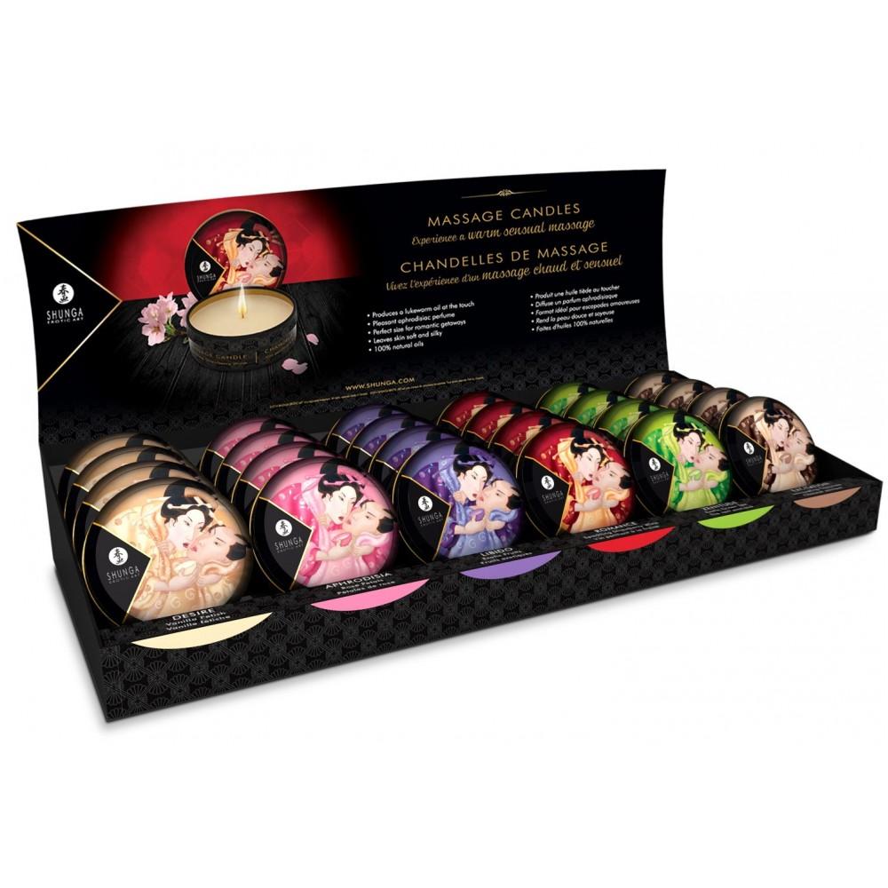 Массажная свеча Shunga MINI MASSAGE CANDLE - Rose Petals 30 мл фото 2