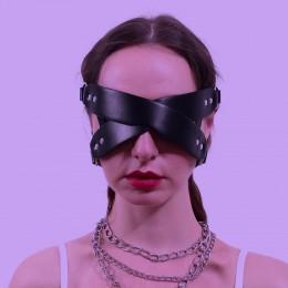 Крестовидная кожаная маска на глаза