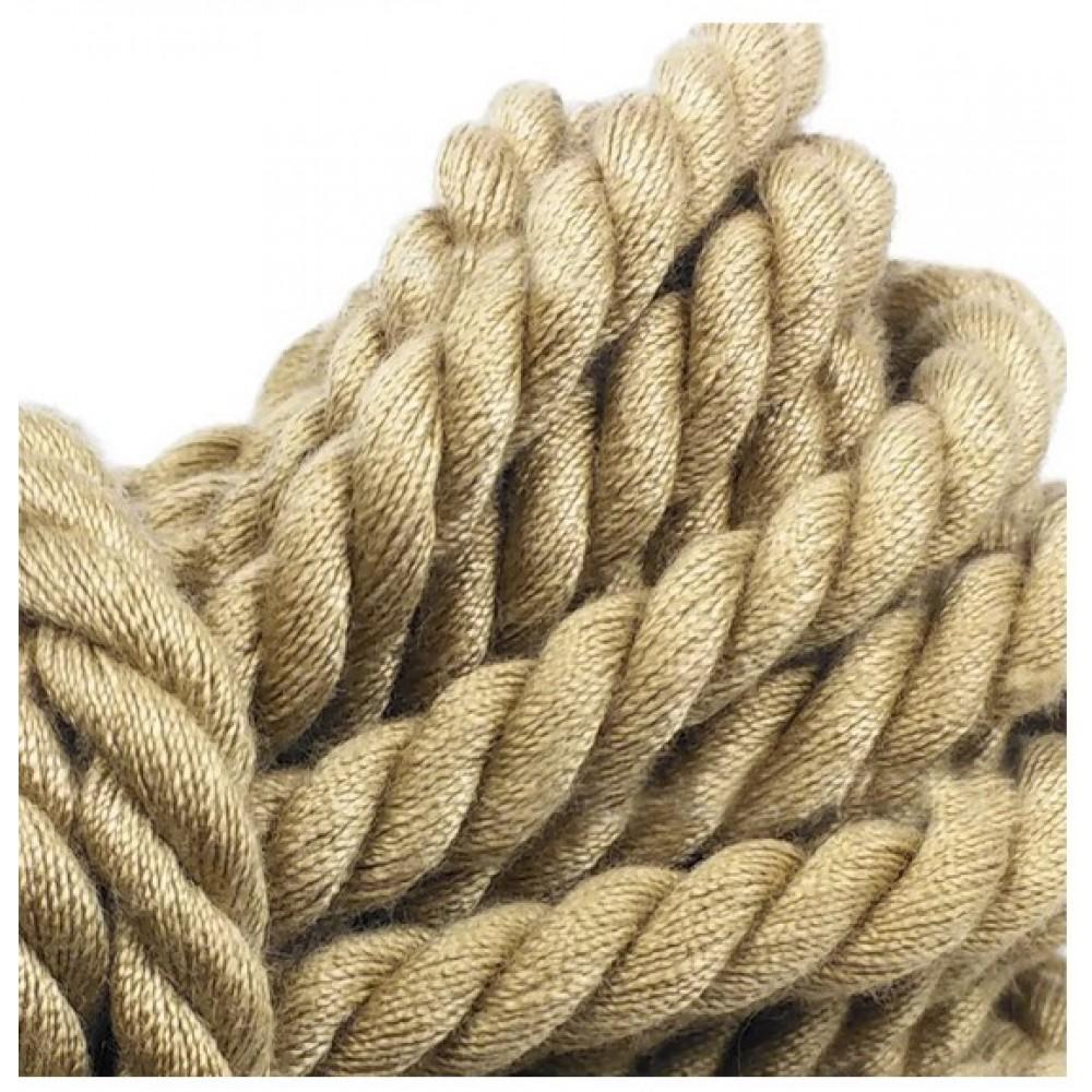 Бондажная хлопковая веревка бежевого цвета 5 м фото 3