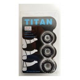 Эрекционные кольца TITAN cock ring set blue созданы для продления удовольствия