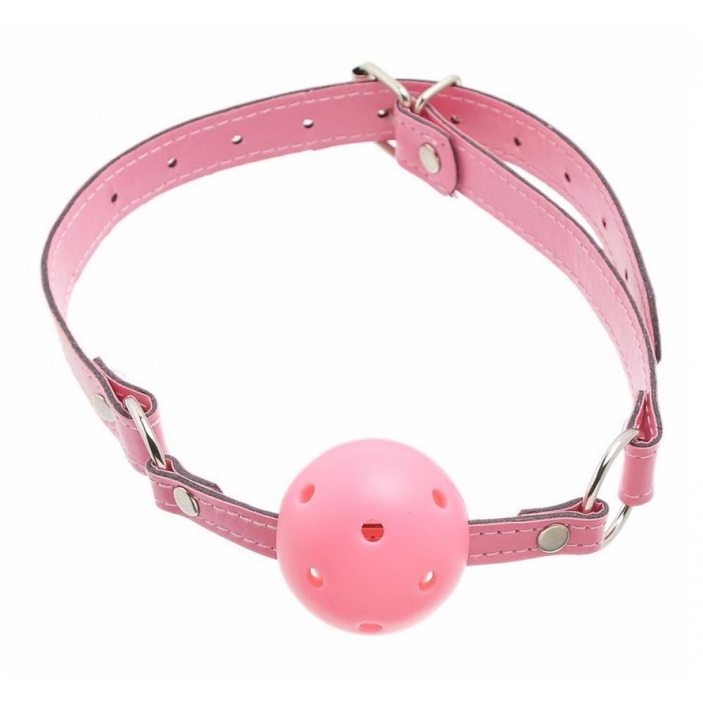Кляп розового цвета для страстных игр