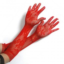 Перчатки сетка, красные, для Вашего сексапильного образа!
