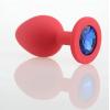 Красная силиконовая пробка с камнем, М фото 2