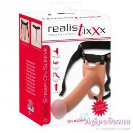 Полый страпон для мужчин Realistixxx Strap On Sleeve для пары