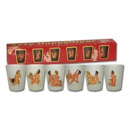 Эротические рюмочки с позами из Камасутры 6 shot glasses Happy Hour прекрасный сувенир