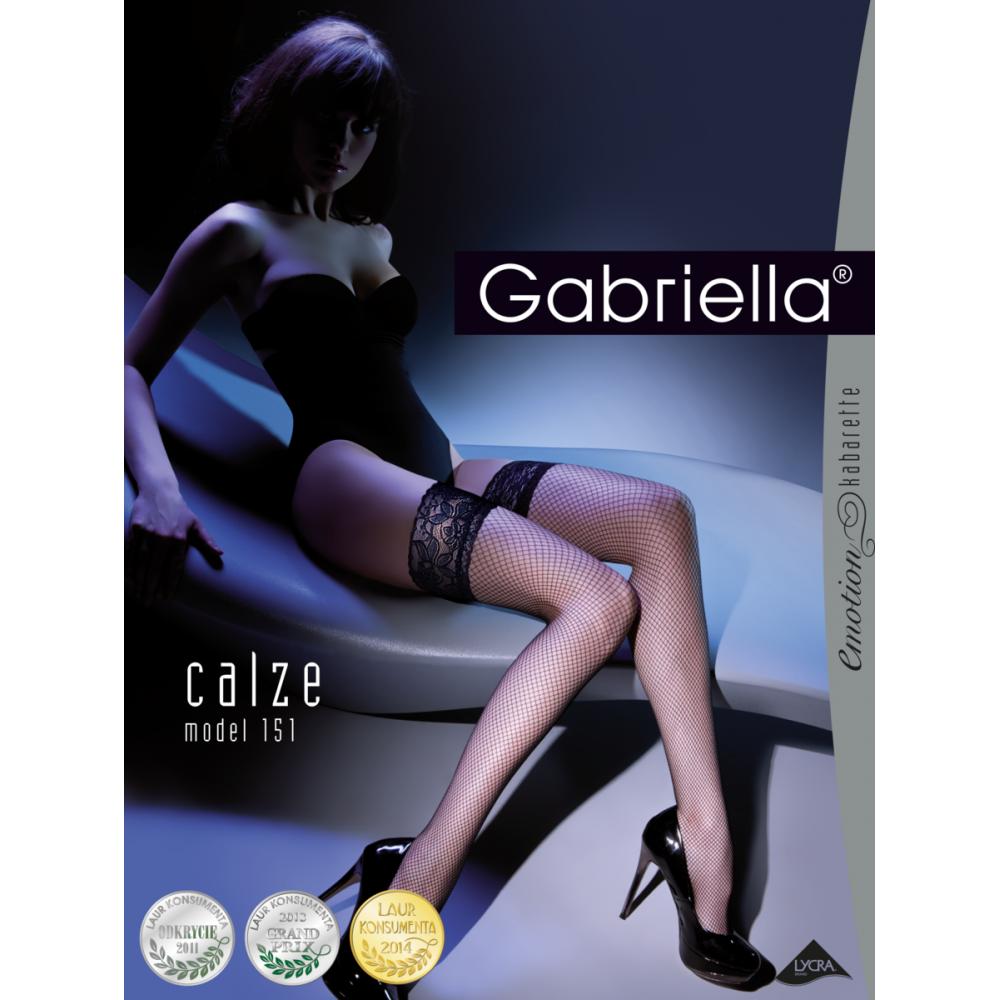 Чулки Gabriella Calze Kabarette 151 с самоудеживающимся кружевом созданы для смелых фото 4