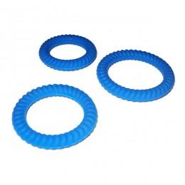 Комплект эрекционных колец Lust 3 Blue для солидной эрекции !