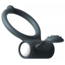 Эрекционное кольцо с вибрацией Marc Dorcel Power Clit Black V2