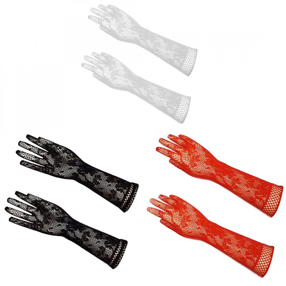 Перчатки сетка, красные, для Вашего сексапильного образа! фото 1