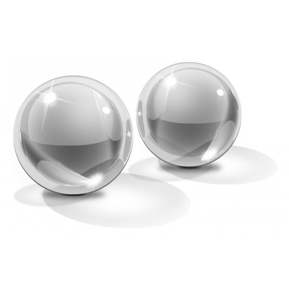 Вагинальные шарики Icicles No.41 Small Glass Ben Wa Balls  фото 1