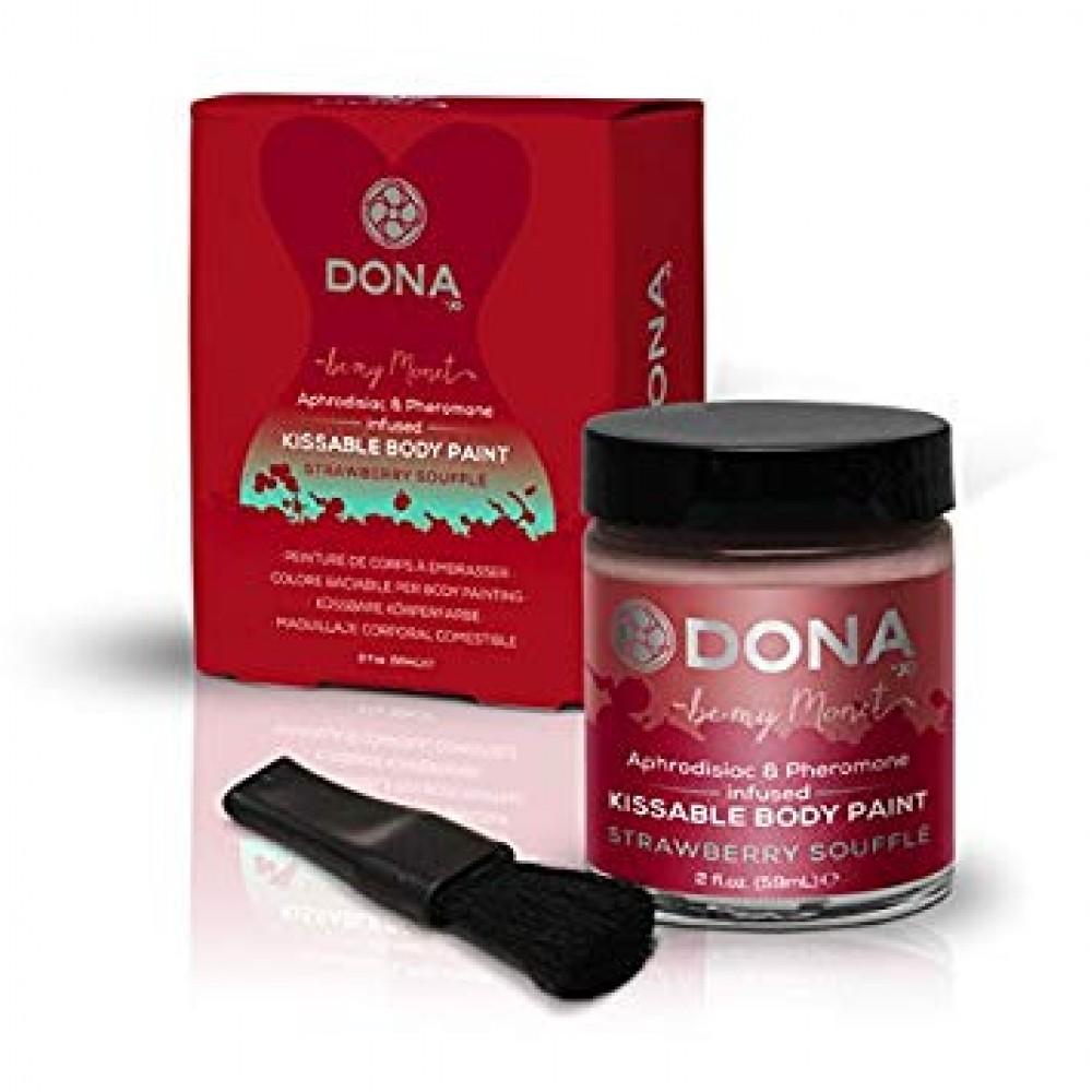 Cъедобная краска для тела Dona Kissable Body Paint - STRAWBERRY SOUFFLE  фото 3