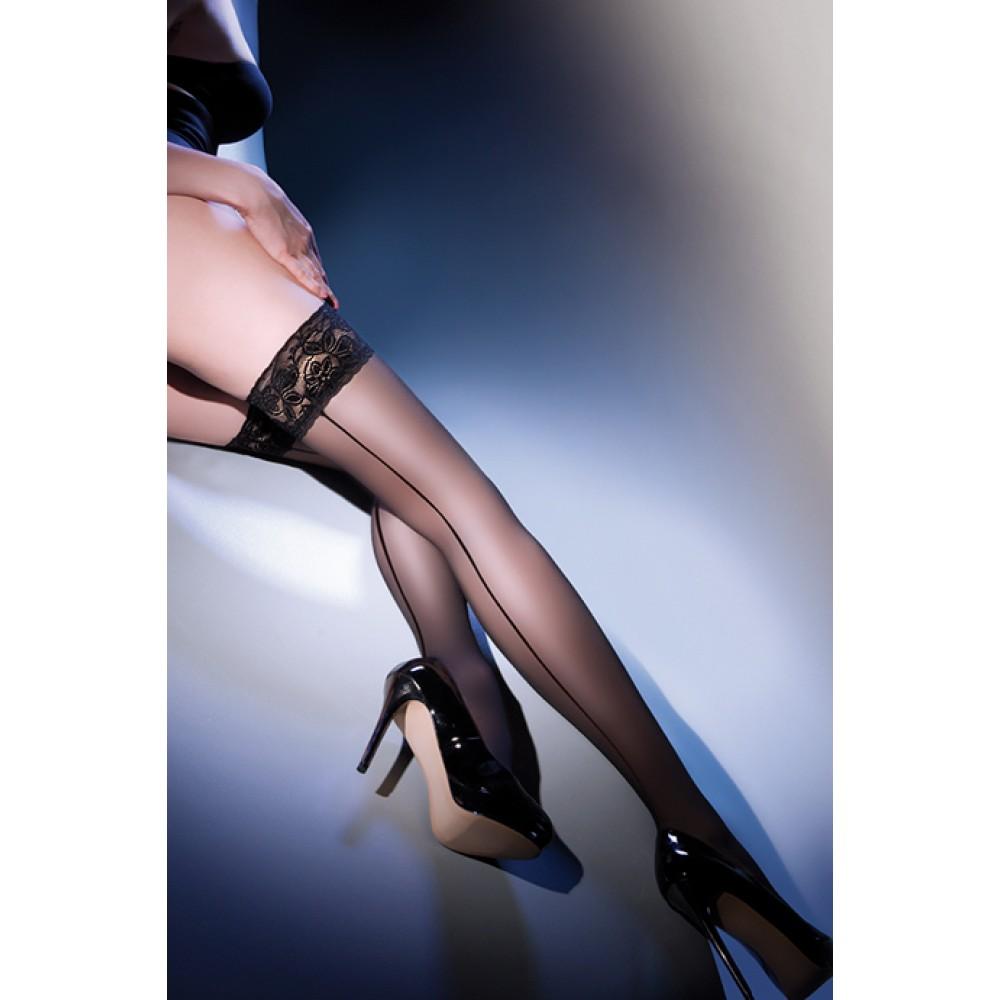 Чулки Calze Linette 20 den с соблазнительным швом сзади нереально сексуальные фото 3