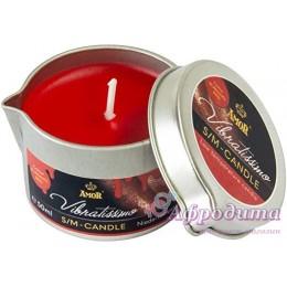 П. Массажная свеча Vibratissimo Burning Red