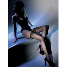Чулки Gabriella Calze Lux 15 den с самоудеживающимся кружевом для шикарных леди