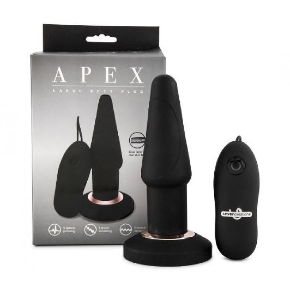 Анальная пробка с вибрацией APEX Plug Black Large