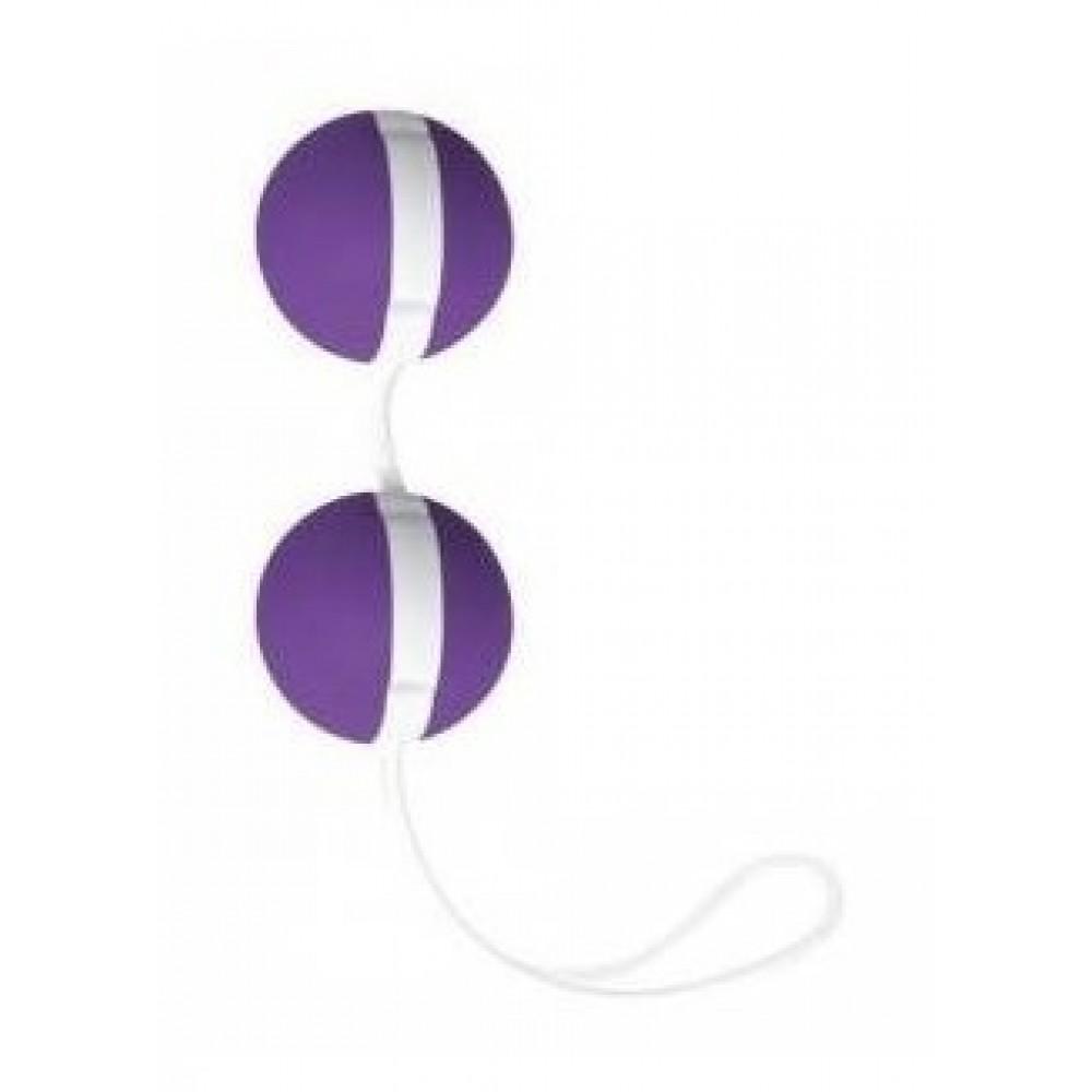 Вагинальные шарики Joyballs violett-white из нежного силикона фото 2