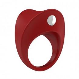 Эрекционное кольцо с вибрацией OVO B11 Vibrating Ring Red