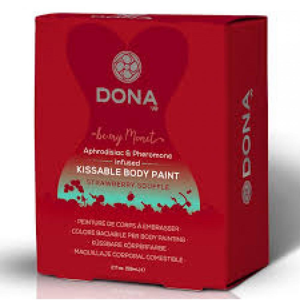 Cъедобная краска для тела Dona Kissable Body Paint - STRAWBERRY SOUFFLE  фото 1
