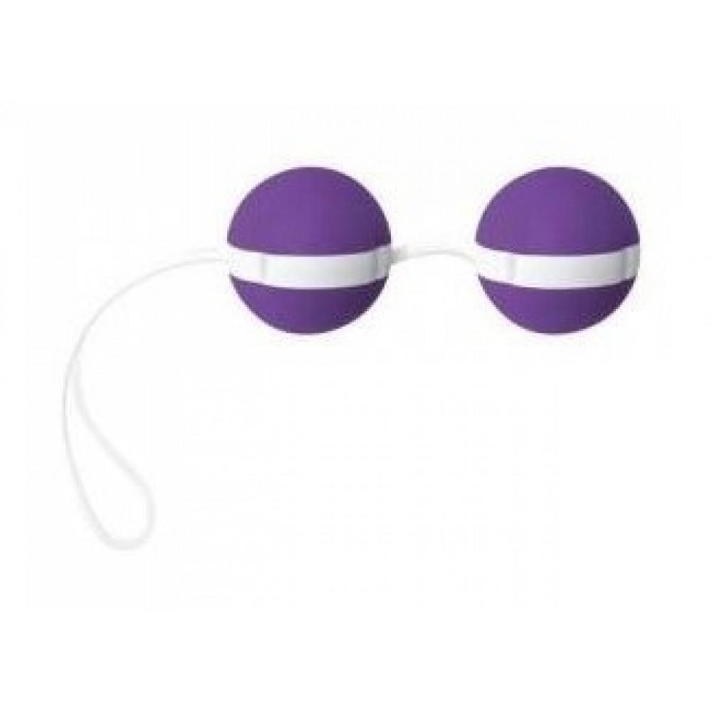 Вагинальные шарики Joyballs violett-white из нежного силикона фото 1
