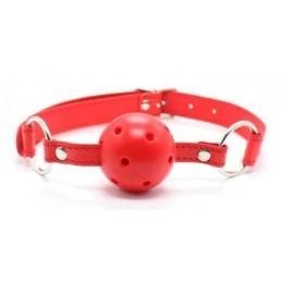 Кляп красного цвета для страстных игр