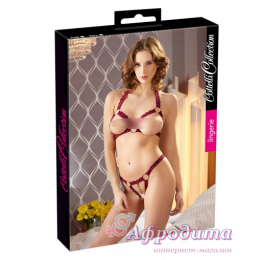 Комплект белья 2213010 Bra Set open red S/M