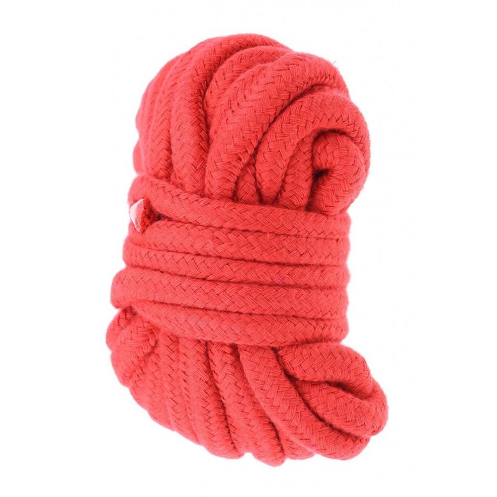 Верёвка красного цвета  фото 1