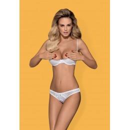 Шикарный комплект белья Obsessive Alabastra set обеспечит комфорт и сексуальность Вашему телу