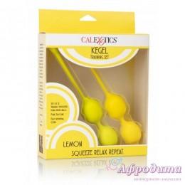 Набор вагинальных шариков CalExotics Kegel Training Set Lemon