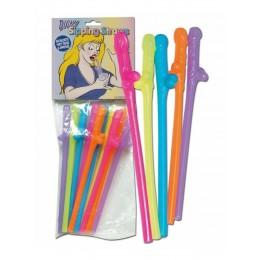 Эротический трубочки Penis Straws coloured поднимут настроение на любой вечеринке