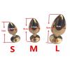 Металлическая анальная пробка - Золото, L фото 1