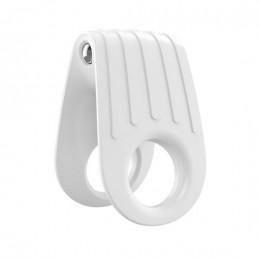 Двойное эрекционное кольцо с вибрацией OVO B12 Vibrating Ring White